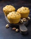Eigengemaakte pompoenmuffins met pistache Royalty-vrije Stock Afbeeldingen