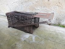 Eigengemaakte rattenval stock afbeelding