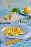 Eigengemaakte ravioli Stock Foto's