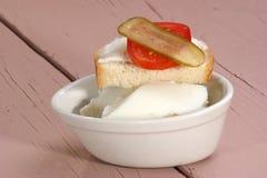 Eigengemaakte reuzel op brood Royalty-vrije Stock Afbeelding