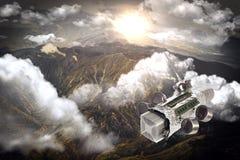 Eigengemaakte Ruimteschipsatelliet Stock Foto's