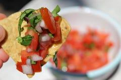 Eigengemaakte Salsa Stock Afbeelding