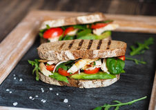 Eigengemaakte sandwich royalty-vrije stock fotografie