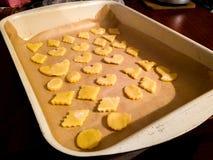Eigengemaakte Santas Vakantie Sugar Cookies royalty-vrije stock afbeeldingen