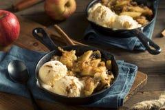 Eigengemaakte Sauteed-Kaneel Sugar Apples Stock Foto's