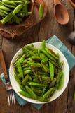 Eigengemaakte Sauteed Sugar Snap Peas Royalty-vrije Stock Foto's