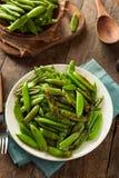 Eigengemaakte Sauteed Sugar Snap Peas Royalty-vrije Stock Foto
