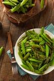 Eigengemaakte Sauteed Sugar Snap Peas Stock Afbeeldingen