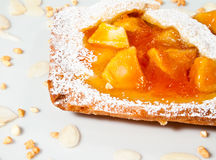 Eigengemaakte scherpe appel en abrikoos Stock Foto's