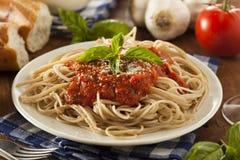 Eigengemaakte Spaghetti met Marinara-Saus Stock Afbeeldingen