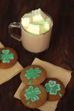 Eigengemaakte St Patrick Day koekjes Stock Foto's