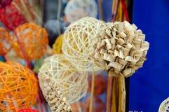 Eigengemaakte strobloemen Stock Foto's