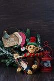 Eigengemaakte stuk speelgoed aap Royalty-vrije Stock Fotografie