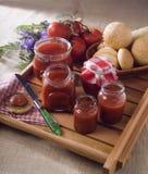 Eigengemaakte tomatensaus royalty-vrije stock afbeelding