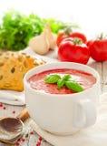 Eigengemaakte tomatensoep Royalty-vrije Stock Afbeeldingen