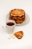 Eigengemaakte wafels Royalty-vrije Stock Afbeelding