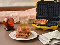 Eigengemaakte wafels Royalty-vrije Stock Fotografie