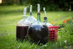 Eigengemaakte wijn royalty-vrije stock afbeeldingen