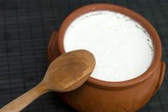 Eigengemaakte yoghurt Stock Foto's