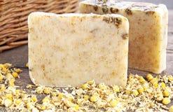 Eigengemaakte zeep met kamille Royalty-vrije Stock Afbeelding
