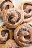 Eigengemaakte zoete broodjes Stock Foto