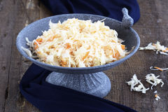 Eigengemaakte Zuurkool met wortelen Royalty-vrije Stock Foto