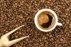 Eigengemaakte zwarte koffie Royalty-vrije Stock Fotografie