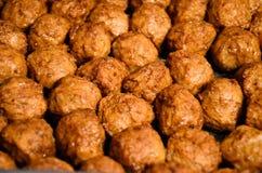 Eigengemaakte Zweedse Vleesballetjes stock foto's