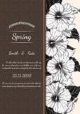 Eigenhändig zeichnende Chrysanthemenblumenkarte Lizenzfreie Stockfotos