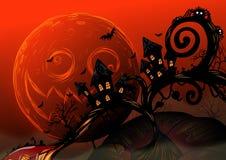Eigenhändig zeichnender Halloween-Hintergrund Stockfotografie