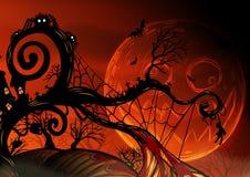 Eigenhändig zeichnender Halloween-Hintergrund Lizenzfreies Stockfoto