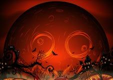 Eigenhändig zeichnender Halloween-Hintergrund Lizenzfreie Stockfotos