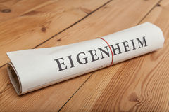 Eigenheim newspaper Royalty Free Stock Photography