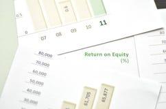 Eigenkapitalrentabilität Stockfotos