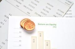 Eigenkapitalrentabilität Stockfotografie