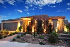 Eigentijds Australisch huis Royalty-vrije Stock Foto's