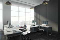 Eigentijds bureau met exemplaarruimte Stock Foto