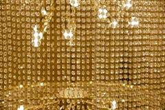 Eigentijds Crystal Chandelier Sluit omhoog op het kristal van mede stock afbeelding
