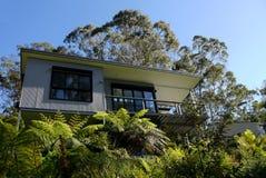 Australië: modern huis in struik stock foto's