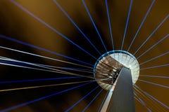 Eigentijds kunstfestival van lichten in Bratislava, Slowakije Stock Afbeeldingen