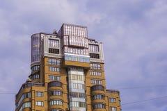 Eigentijdse architectuurstijl van Barcelona, Spanje Stock Foto's