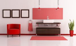 Eigentijdse badkamers Stock Foto's