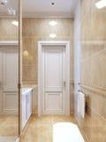 Eigentijdse badkamers met douche Stock Afbeelding