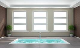 Eigentijdse badkamers met gedaald bad Royalty-vrije Stock Foto's