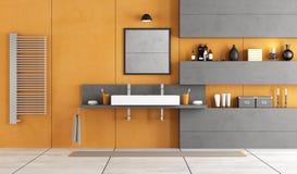 Eigentijdse badkamers met wasbak Royalty-vrije Stock Afbeelding