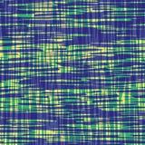 Eigentijdse blauwe en groene geborstelde lijnen binnen met het transparante effect van de waterkleur Vector naadloos plaidpatroon royalty-vrije illustratie