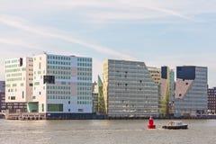 Eigentijdse bureaugebouwen in het centrum van Amsterdam Stock Foto