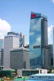 Eigentijdse commerciële gebouwen in Hongkong Stock Foto