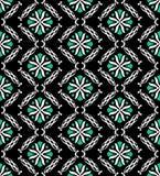 Eigentijdse Groene Zwarte Naadloos Royalty-vrije Stock Afbeelding