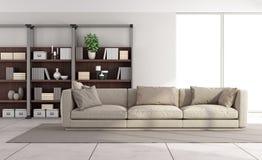Eigentijdse heldere woonkamer Stock Fotografie